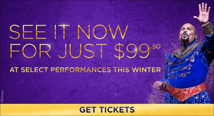 Disney's official site for tickets and information to the hit Broadway musical ALADDIN in New York City and on tour across North America!