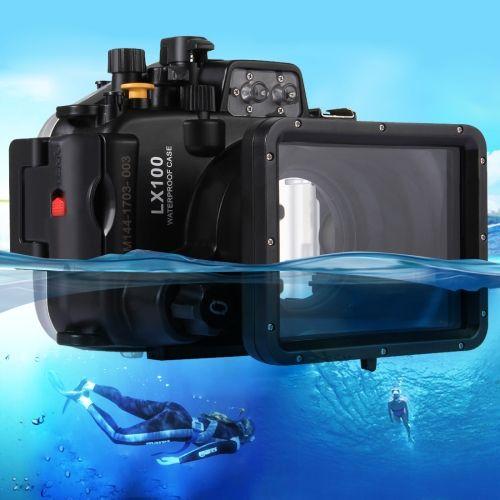 [$129.00] PULUZ 40m Underwater Depth Diving Case Waterproof Camera Housing for Panasonic LUMIX DMC-LX100