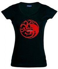 Camiseta escudo Casa Tagaryen para chica