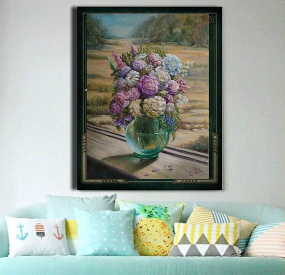 Commissioned Portraits Floral Wall Art
