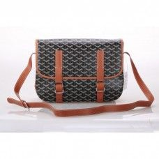 Goyard Messenger Bag MM Black with Khaki