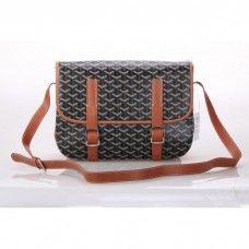 Goyard Messenger Bag MM Black with Khaki