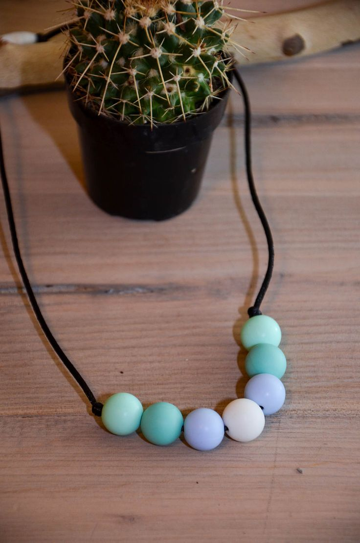Necklace Silicone Teething | Teething Necklace | Breastfeeding Necklace | Teething Toy | Baby Shower Gift | Teether | Mom Teething Necklace by KylaJoSews on Etsy