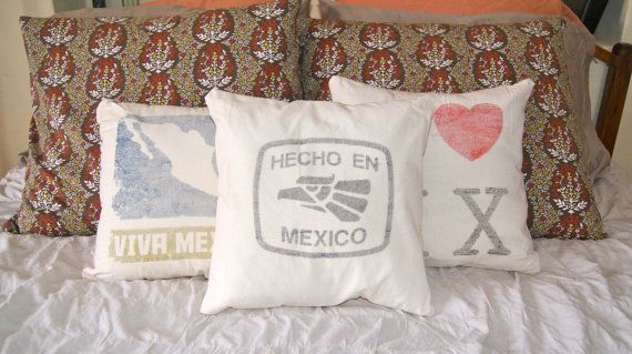 Hey, I found this really awesome Etsy listing at https://www.etsy.com/listing/167567050/hecho-en-mexico-14x14-funda-para-cojin