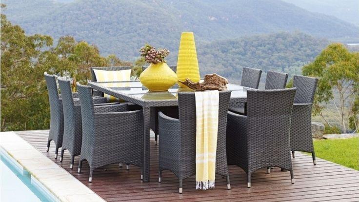 Newport 11 Piece Outdoor Dining Setting - Outdoor Living - Furniture, Outdoor & BBQs | Harvey Norman Australia