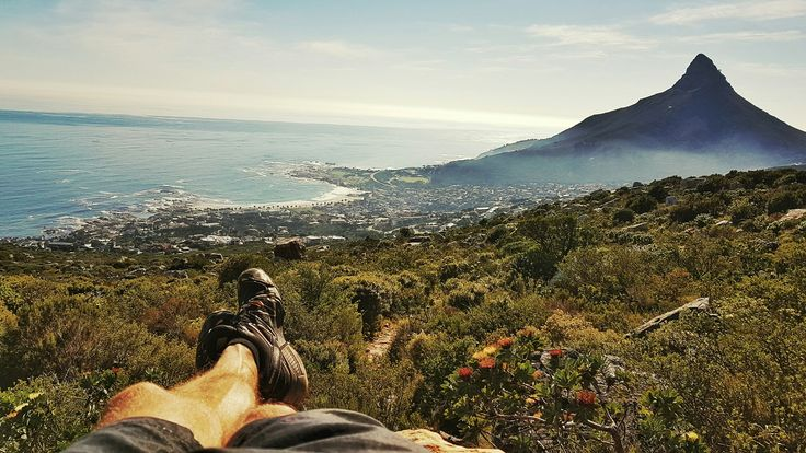 Clifton beach and lionshead. Pipe track in Cape Town