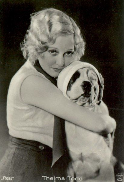 Thelma Todd and Petey the dog    C. 1920s