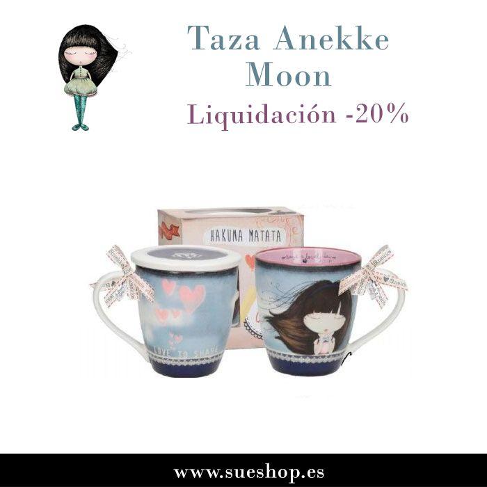 """Aprovéchate de nuestros artículos en liquidación y consigue la Taza Anekke con tapa de porcelana de la colección """"Moon"""" ahora por tan solo 7.16€!! @sueshop_es #anekke #taza #porcelana #hogar #menaje #desayunos #tes #liquidacion #oferta #descuento #sueshop"""