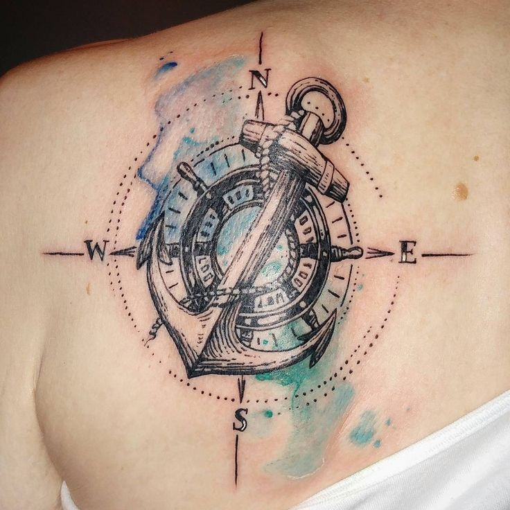 Nautical themed tattoo