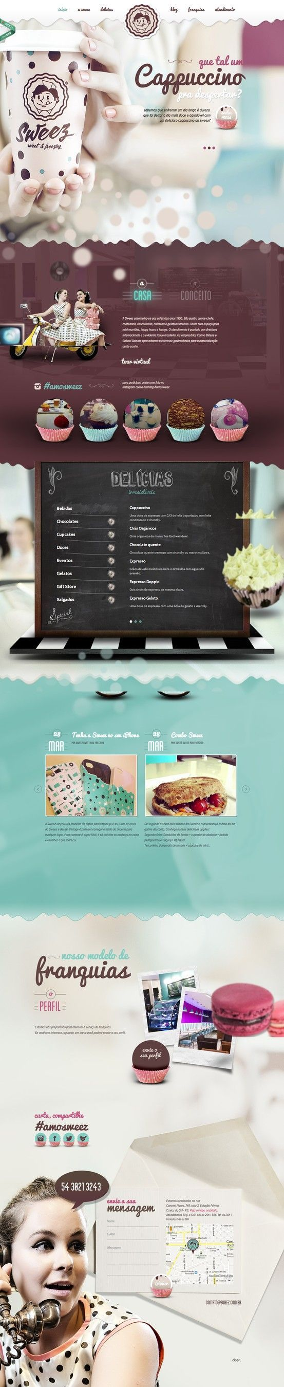 http://www.sweez.com.br/ - Soft, Light Hearted, Fanciful, Pastel/Muted Color Scheme