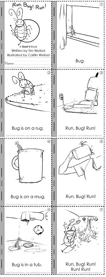Learn the Short U sound with this printable mini-book!