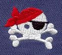 """Jolly Roger   Urban Threads: Unique and Awesome Embroidery Designs (#UT1427) 1.50""""w x 1.30""""h 30 May 2012"""