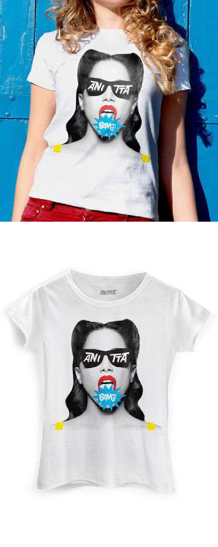 7f4d6c93ceefd Camiseta Feminina Anitta Roupas Bang baby look oficial Gola careca e mangas  curtas looks da moda