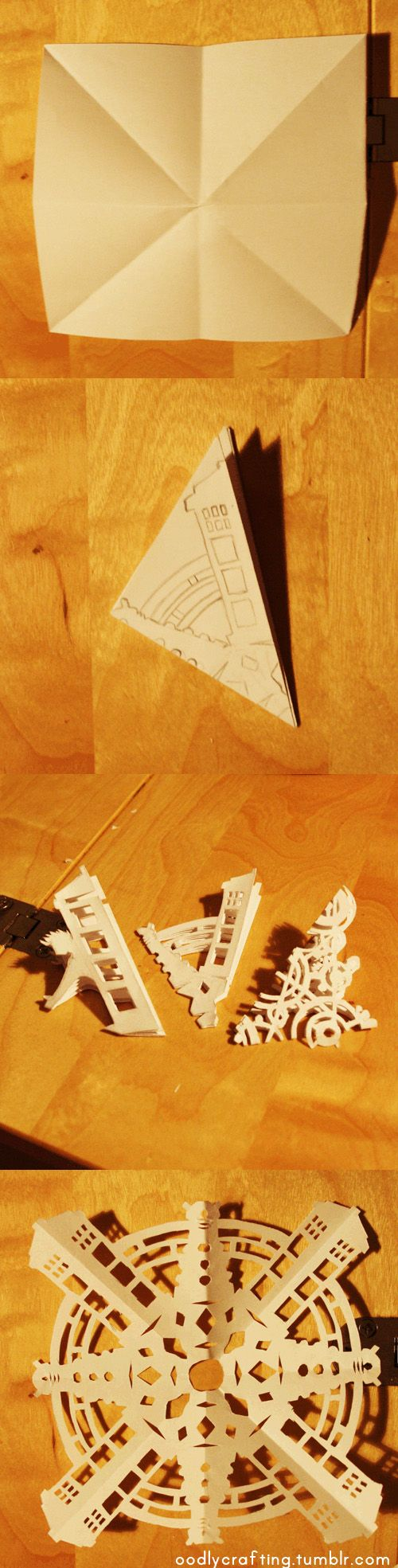 How to make your own eight point Doctor Who paper snowflake