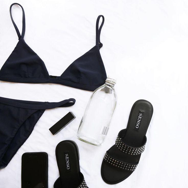 Black beach essentials -- black is my happy color