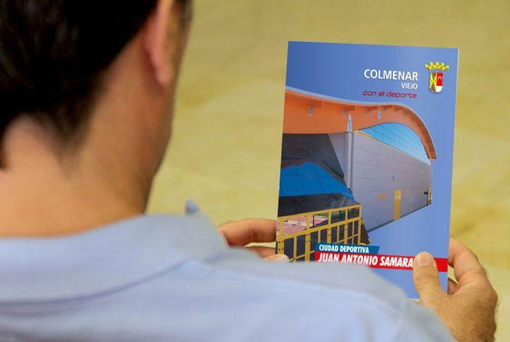 Cuadríptico explicativo de la Ciudad Deportiva Juan Antonio Samaranch con una infografía de las instalaciones.