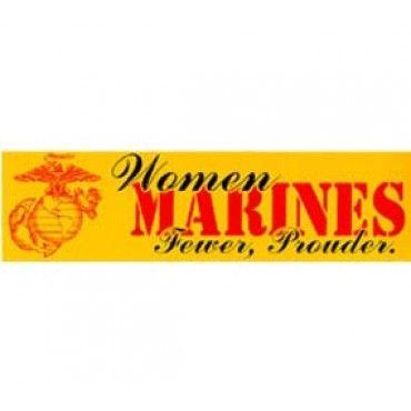 Women Marines Bumper Sticker | Woman Marines | Womens | Sgt Grit - Marine Corps Store