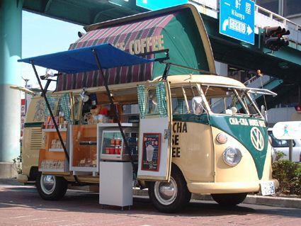 Vendre des glaces et du café à des vacanciers #food #truck
