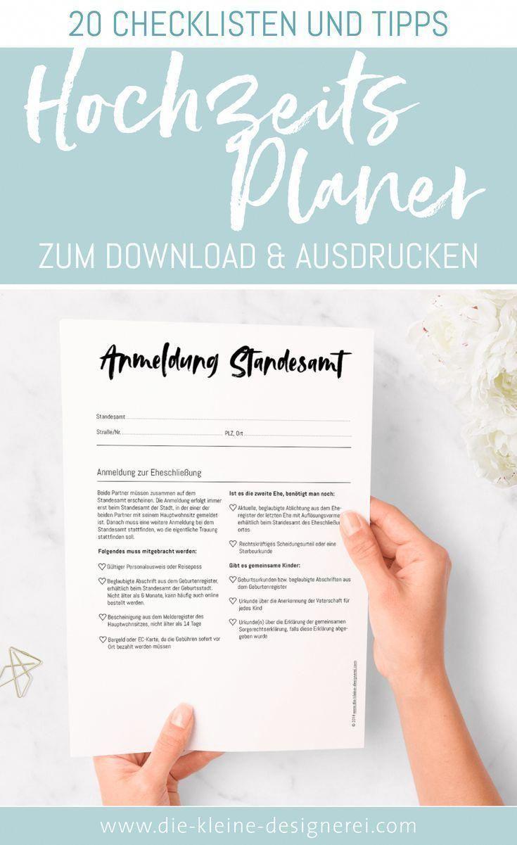 20 Seitiger Wedding Planner Zum Ausdrucken Und Ausfullen Fur Eine Organisierte Hochzeit Wedding Pl Stress Free Wedding Wedding Planning Tips Wedding Planning