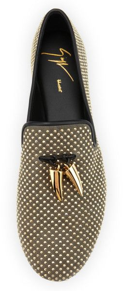 Guiseppe Zanotti Brown Studded Toggle Slipper Vaky Kaky