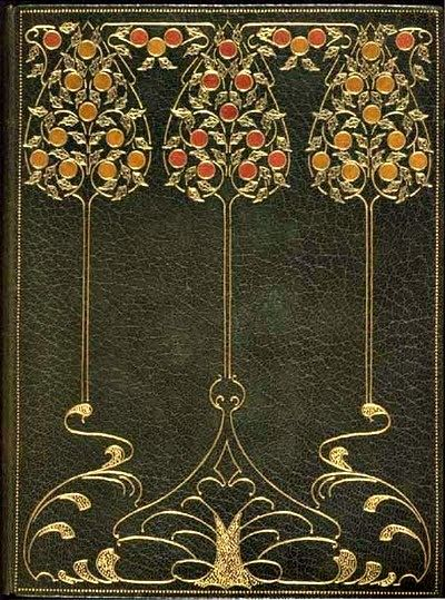 Elegy Written in a Country Churchyard, by Thomas Gray, illustrated by R.W.A. Rouse. London: Printed for the Guild of Women Binders, 1899. Book cover.