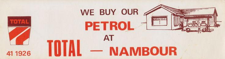 TOTAL Nambour car sticker.