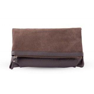 Odelia - geanta din piele naturala - taupe