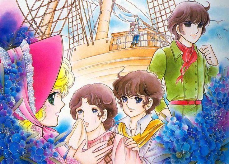 Georgie and he family by Mann Izawa•Art of Yumiko Igarashi color sleeve ✤ || ジョージィ! (Jōjī!) • concept art, #shojo clasico #historieta #anime #cartoni #animati #comics #cartoon from the art Yumiko Igarashi || ✤ #Georgie, レディジョージィ Redi Jōjī 1982- Shojo comic