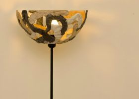 Lamp Fiore di Geris of Malta di GerisFloor lamp made and molded by hand in Mortar of Geris.