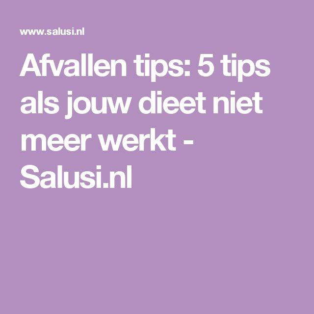 Afvallen tips: 5 tips als jouw dieet niet meer werkt - Salusi.nl