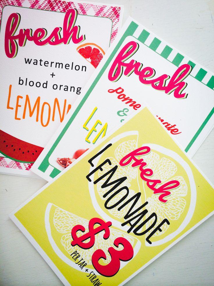 Lemonade signage