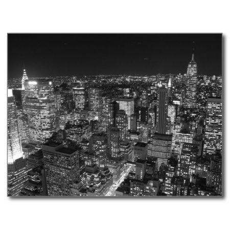 Black & White New York Skyscrapers Post Card
