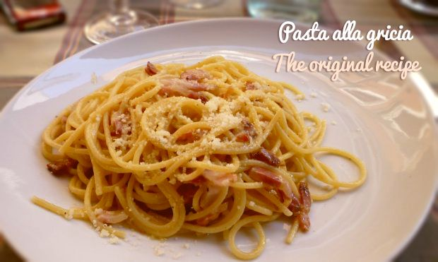 Pasta alla gricia, one of the most ancient and tasty italian recipe. Find out how You can prepare it. | http://italian-traditions.com/recipes/pasta-alla-gricia/