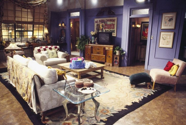 "A shot looking toward the bedrooms: | 27 Amazing Rare Photos From The First Season Of ""Friends"""