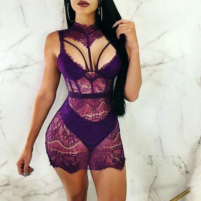 Pin by Annetté on Bedtime Flirt   Diva boutique. Lace mini dress. Comfy outfits