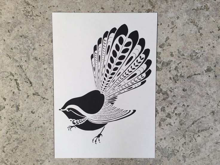 Fantail paper cutting