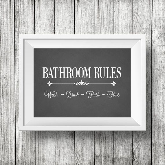 53 best children bathroom images on pinterest bathroom for Bathroom decor rules