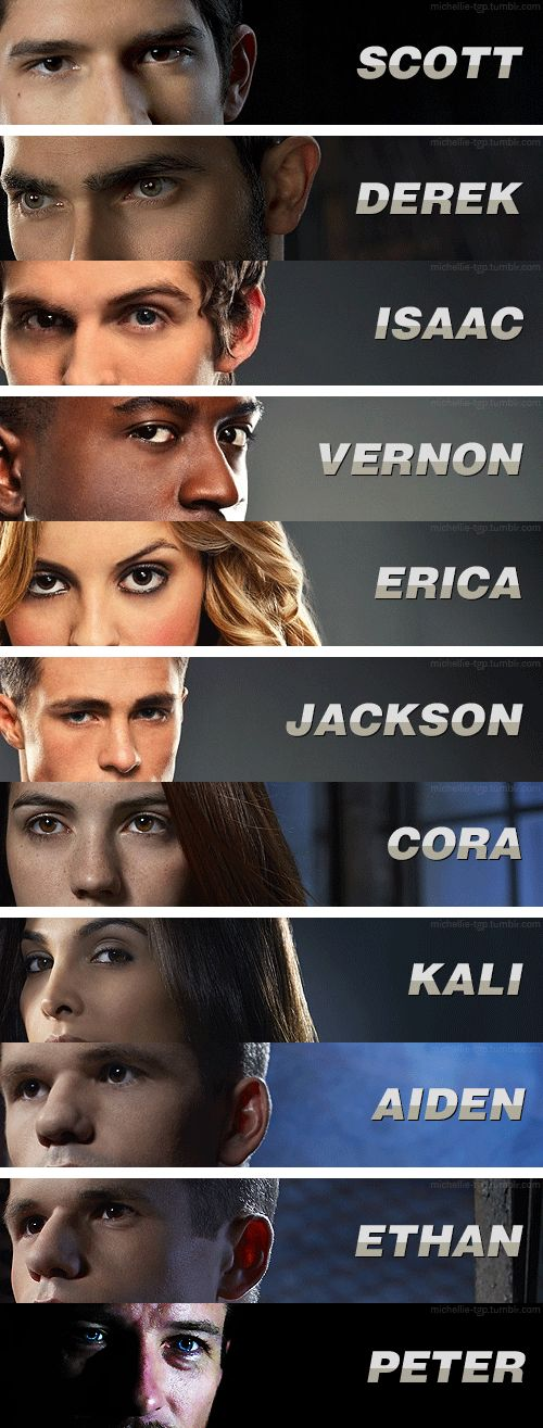 Teen Wolf: Werewolves & Eyes Love how someone added on to this! Have an earlier version pinned that stops at Jackson.