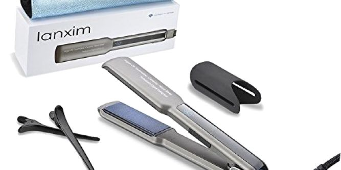 Lanxim Pro Digital Tourmaline Ceramic Flat Iron Hair Straightener with Heat Resistant Travel Bag and Protective Plate Guard, 1 1/4-Inch, Gray  Say goodbye to tiresome frizzy and fly-aways hair, rapid get professtional style straight shiny or wave hair in your home with the Lanxim Pro Tourmaline Ceramic Flat Iron(INNACT TM & C-Sensor TM). The professional Lanxim Tourmaline Ceramic Flat Iron is great for transforming frizzy, dull hair into gorgeously straight and sleek locks. With 11 s..