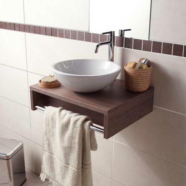 meuble lave main en bois