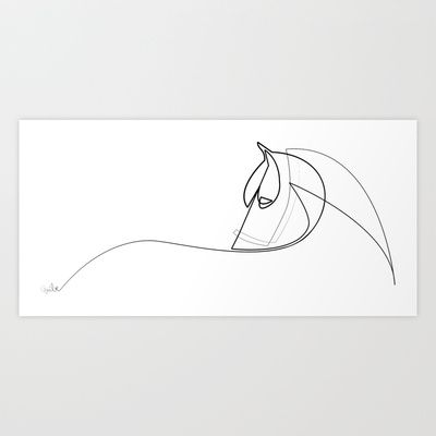 Buy Pony line by Quibe as a high quality Art Print. Worldwide shipping available… – miriam eberhard