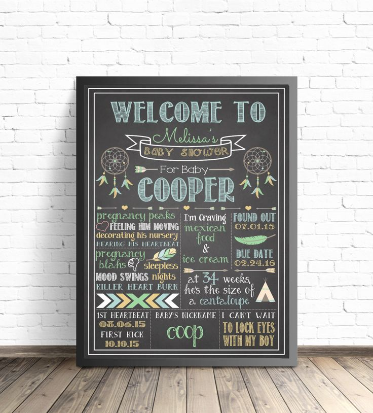 Baby Shower Chalkboard Sign / Chalkboard Printable / Boy Tribal Shower Decor / Boho Baby Shower / Hippie Nursery Decor / Feathers and Arrows by ParkAndMaddy on Etsy https://www.etsy.com/listing/263534405/baby-shower-chalkboard-sign-chalkboard