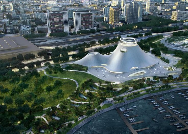 MAD Architects' – George Lucas Museum of Narrative Art on the shore of Lake Michigan https://www.design-inspiration.net