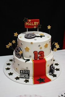 5M Creations: Movie Night 13th Birthday Party Cake