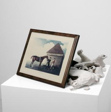 Giulio Paolini//  ECLIPSE, 1986, 60 x 60 x 80 cm., mix media, ed. 4/6, In collaboration with Studio La Citta.