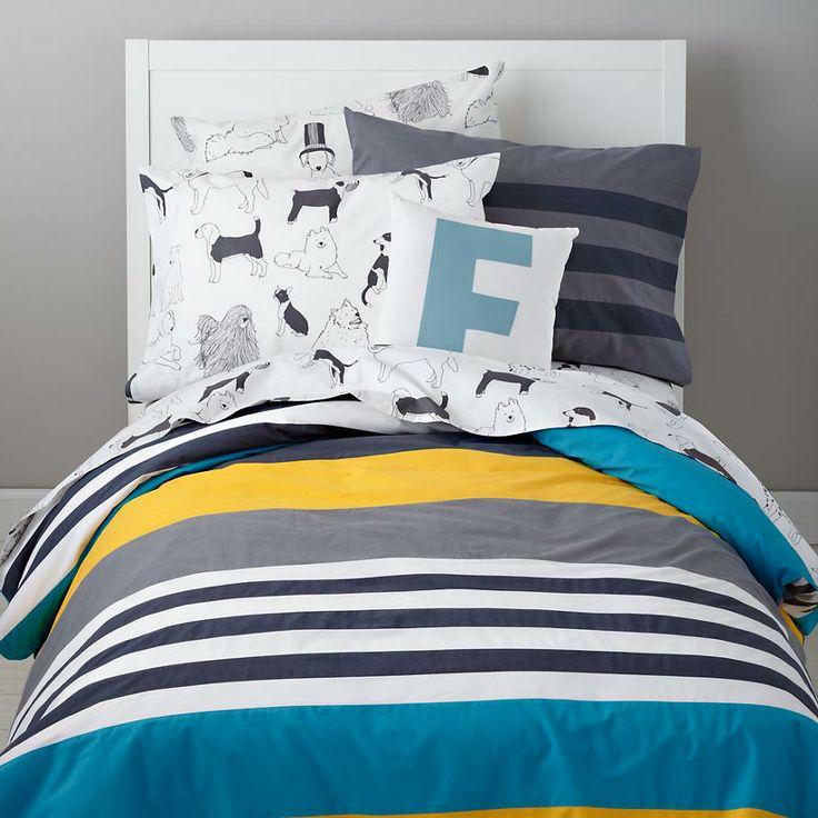 The Land of Nod | Boys Bedding: Striped Boys Bedding in Boy Bedding