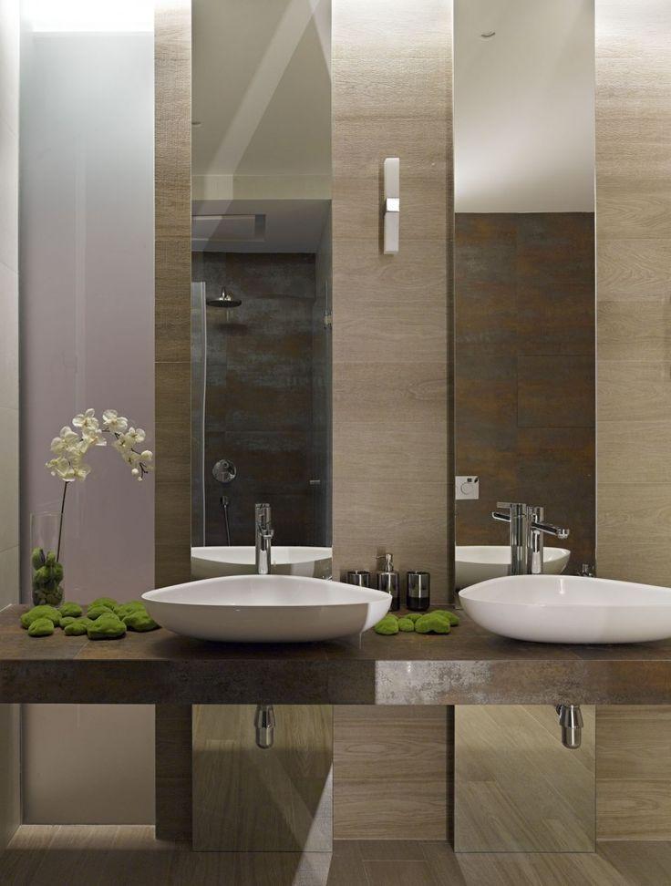 Clean contemporary bathrooms