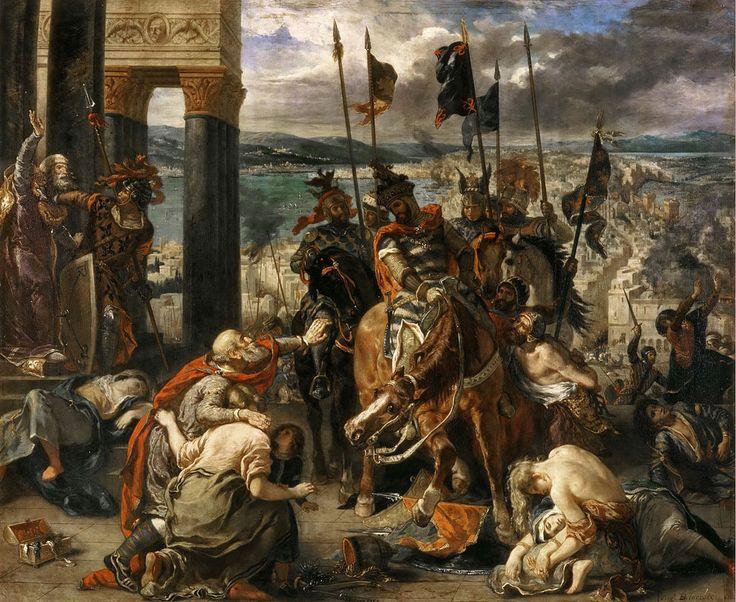 Eugène Ferdinand Victor Delacroix 012 - Eugène Delacroix – A tomada de Constantinopla pelos cruzados