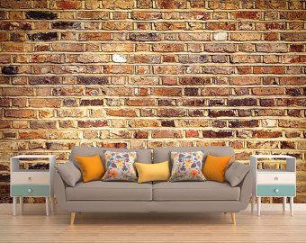 Brick Wall Mural, Brick Wallpaper, Brick Mural, Brick Wall Decal, Brick Photo Wallpaper, Removable Wallpaper, Self Adhesive Wallpaper, Mural