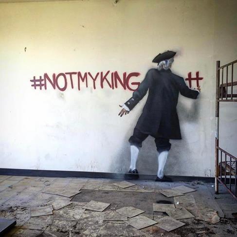 "BIP,  ""Not My King"" in Northern California, USA, 2017"